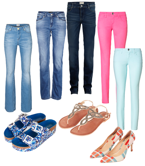 Farvede-jeans
