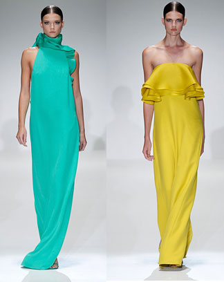 Gucci-green-and-yellow-silk-dresses