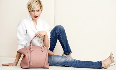 Stylefashion.dk-Michelle-Williams-Louis-Vuitton-SS-2014-Campaign-Jeans-Pink-Bag