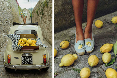 Soludos lemon slippers 75$